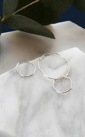 Asymmetric Sterling Silver Circle Earrings by DOSE of ROSE