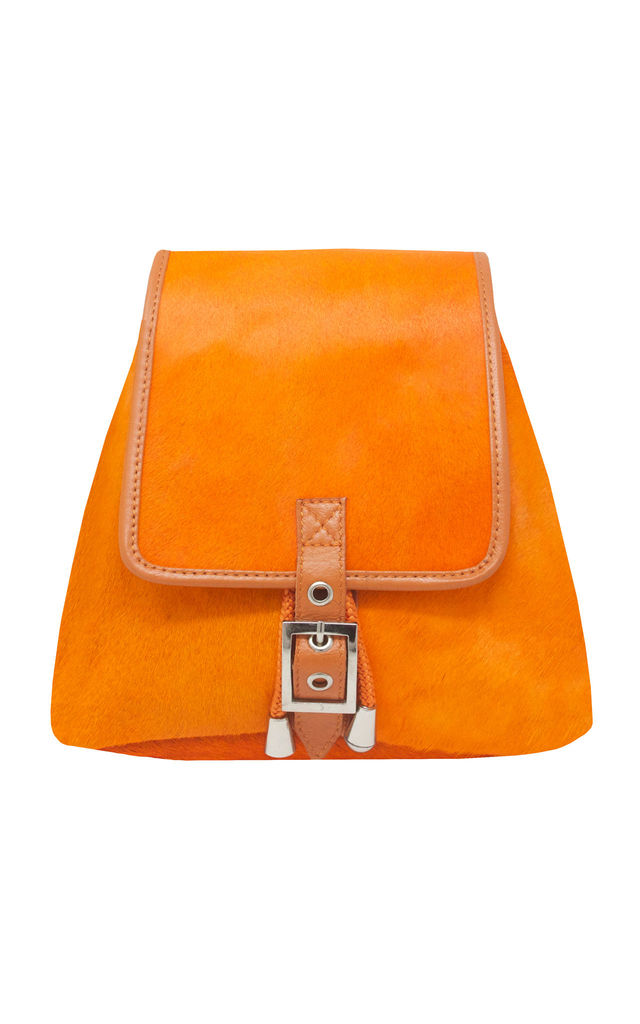 ORANGE HIDE HAIR RUCKSACK by Luna Love London