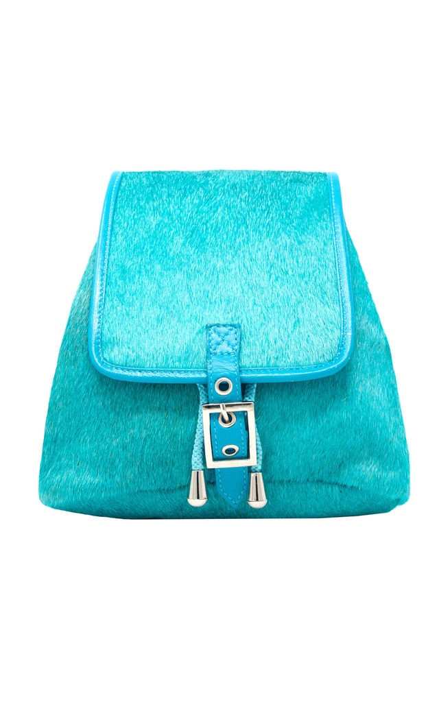 TURQUOISE HIDE HAIR RUCKSACK by Luna Love London