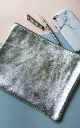Large Silver Clutch by Grace and Valour