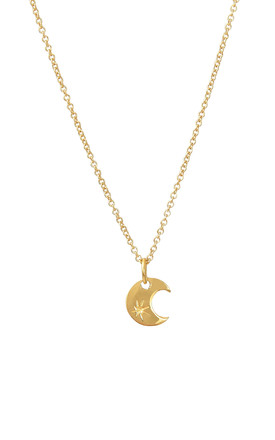 Moon Pendant Gold Vermeil by DOSE of ROSE