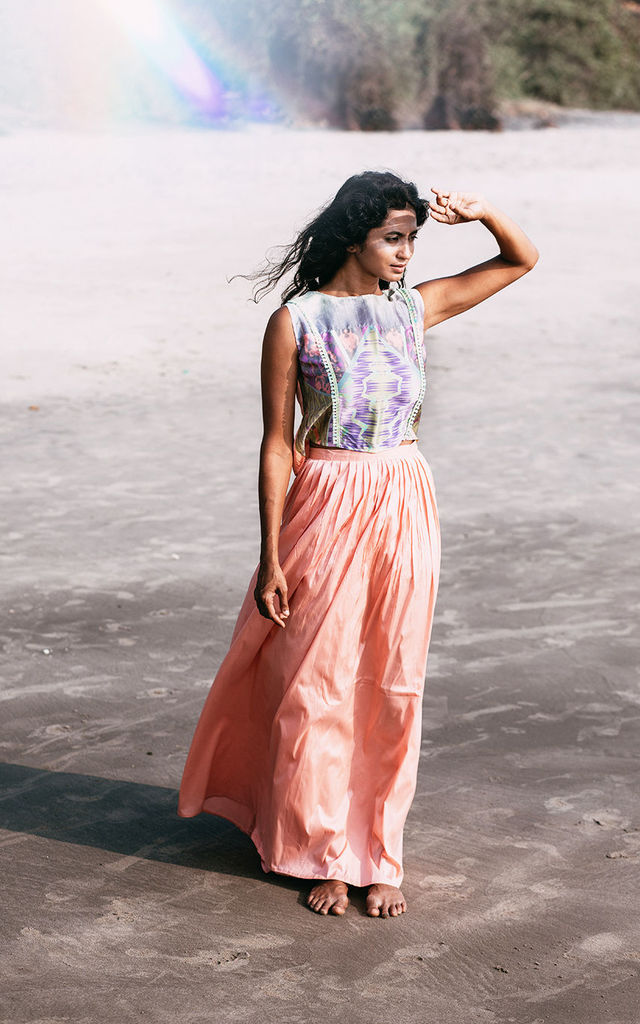 Peach maxi skirt by Silence Beyond Syllables