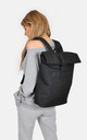 Black Roll Top Laptop Backpack by The Left Bank