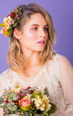Meadow Side Headpiece in English Hedgerow - Pink by Crown and Glory