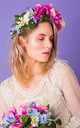 Maurelle Peony and Daisy Crown - Blueberry by Crown and Glory