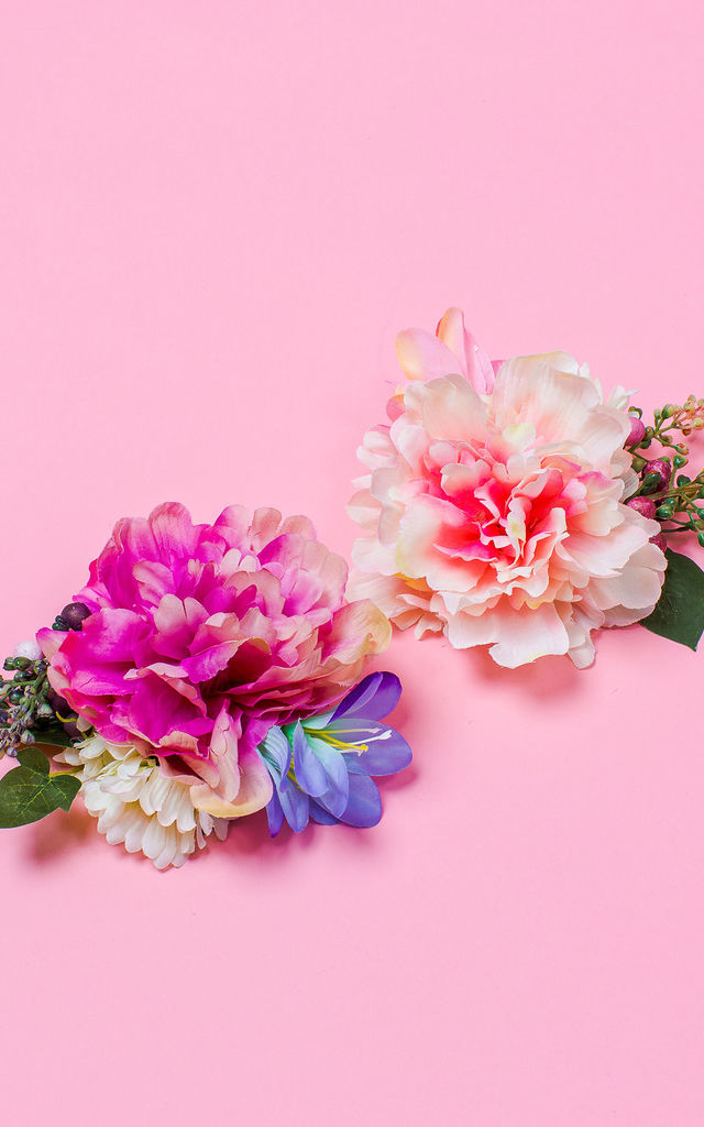 Maurelle Peony Daisy and Berry Corsage - Sorbet by Crown and Glory