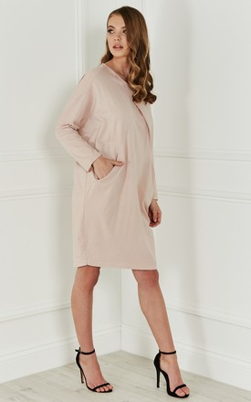 Dusky Pink Cotton 2 Pocket Dress by Bella and Blue
