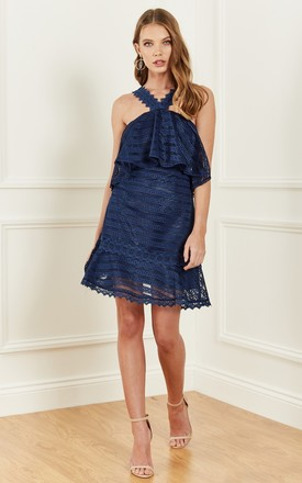 NAVY LUCY HALTER DRESS by Foxie Dox