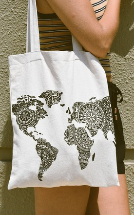 Kate World Map Bag by Ararose Clothing Product photo