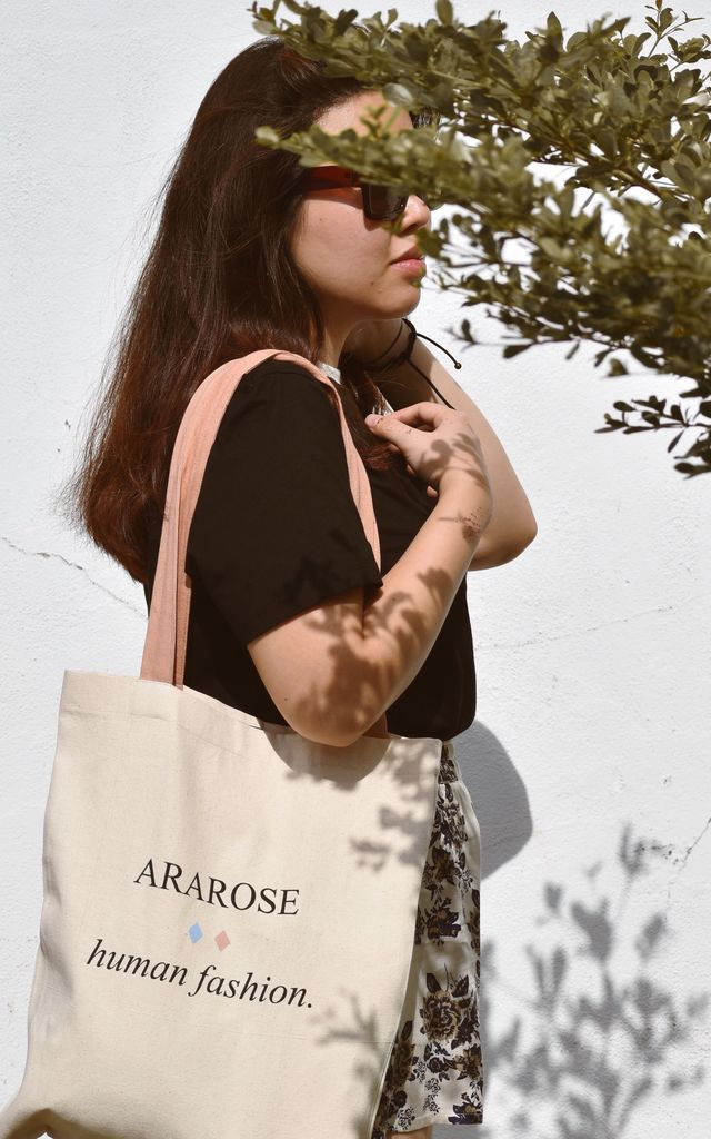 Ararose Canvas Bag by Ararose Clothing