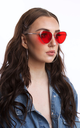 Angular Cat Eye Red Lens Sunglasses by Accessory O
