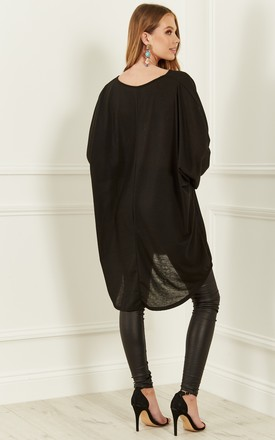 Black Long Oversized Top by Lilah Rose
