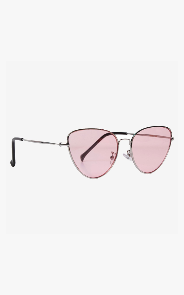 Angular Cat Eye Pink Lens Sunglasses by Accessory O