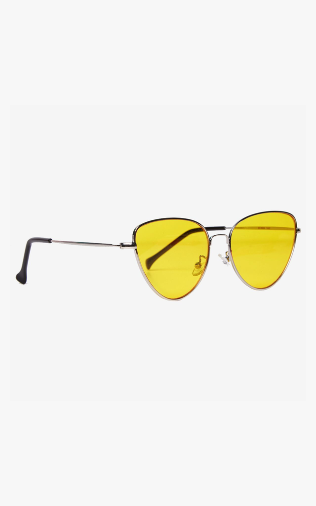 Angular Cat Eye Yellow Lens Sunglasses by Accessory O