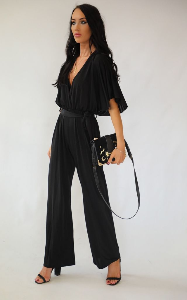 Josie Kimono Wrap Sleeve Jumpsuit by Wired Angel