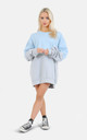 Half blue and grey oversized jumper/dress by The Left Bank