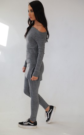 Georgie Knitted Loungewear Set Grey by Wired Angel