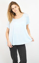 BLUE HALF CIRCLE FLARED TOP SUPER LOOSE FIT by Lucy Sparks