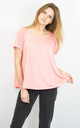CORAL HALF CIRCLE FLARED TOP SUPER LOOSE FIT by Lucy Sparks