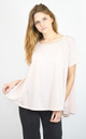 PALE PINK HALF CIRCLE FLARED TOP SUPER LOOSE FIT by Lucy Sparks