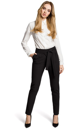 Black high waisted trousers by MOE