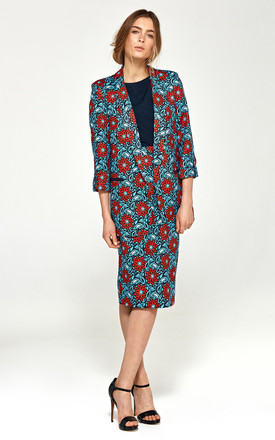 Floral oversize jacket by so.Nife