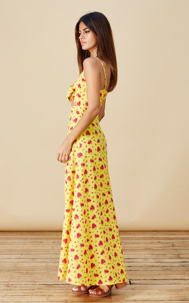 MALIBU DRESS IN MUSTARD DAISY by Dancing Leopard