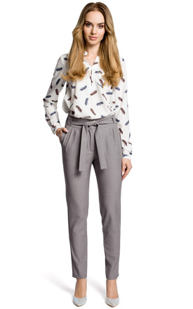 Grey high waisted trousers by MOE