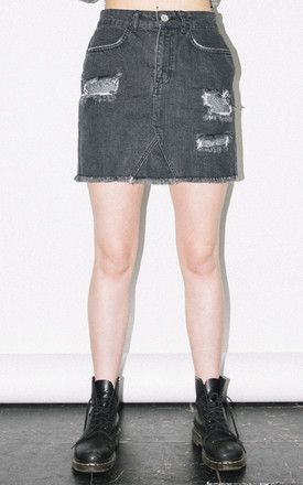 Chainmail Denim Mini Skirt by See You Never Product photo