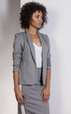 Gray classic, tailored jacket by Lanti