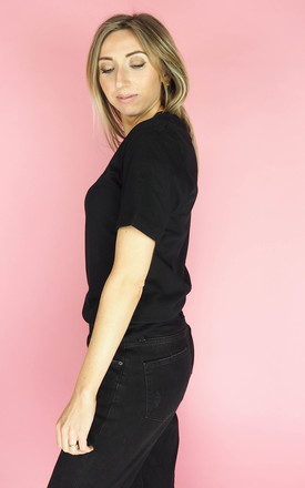 Nice Top T Shirt in Black by Rock On Ruby