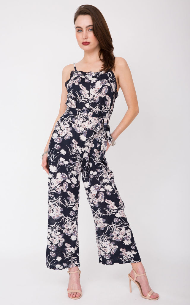 Evie Floral Ruffle Jumpsuit by likemary