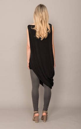 Bagged Side Dress Black by DARE LABEL