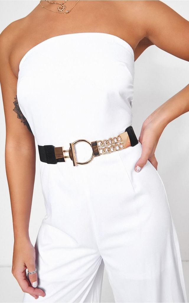 Havana Gold Circle Chain Belt by The Fashion Bible