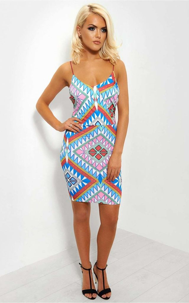 Tula Aztec Midi Dress by The Fashion Bible