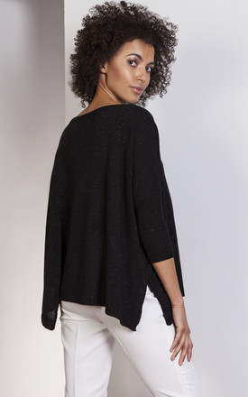 Black oversize sweater by Lanti