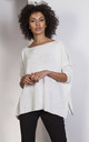 Wide neck Oversize sweater in cream by Lanti