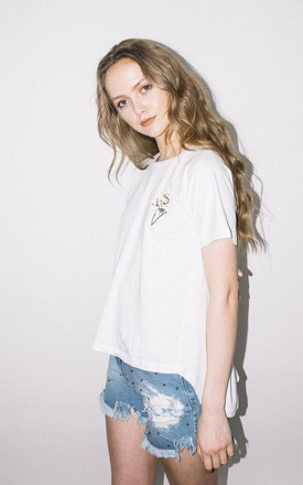 Daisy Chain Full Back T Shirt by See You Never Product photo