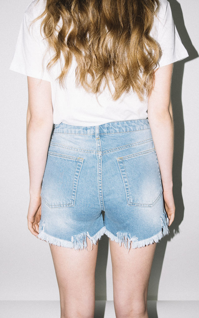 Hey Stud Denim Shorts by See You Never
