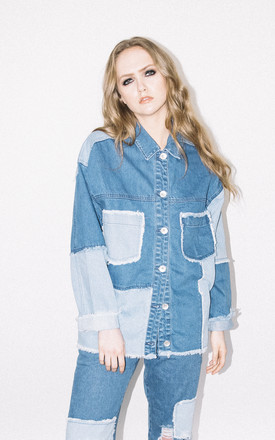 Patchwork Denim Trucker Jacket by See You Never