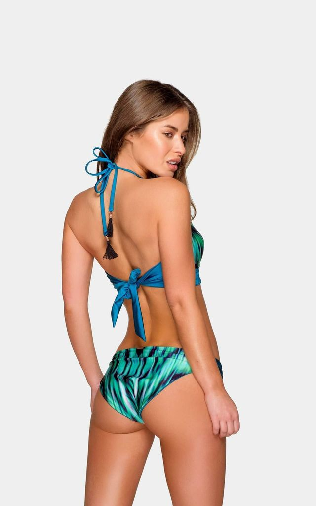 Reeva Two Piece Bikini Top in Blue Print by Bambòa
