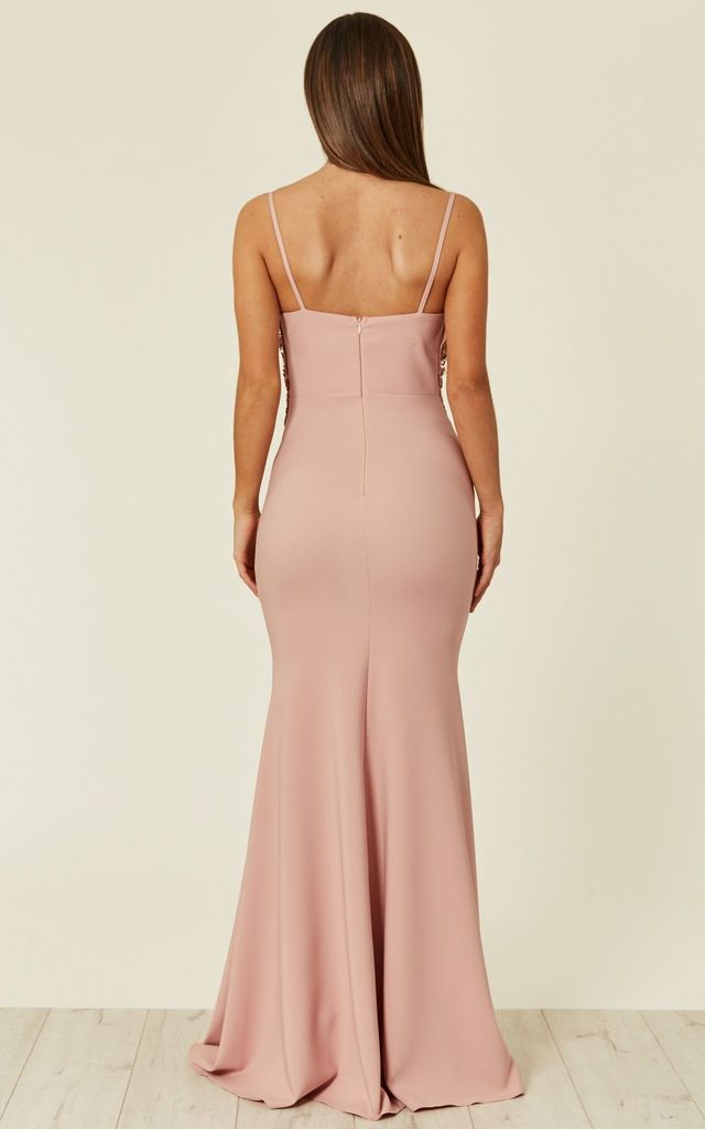 1f6959792b81c Strap Sequin Evening Dress In Pink | Zibi London | SilkFred