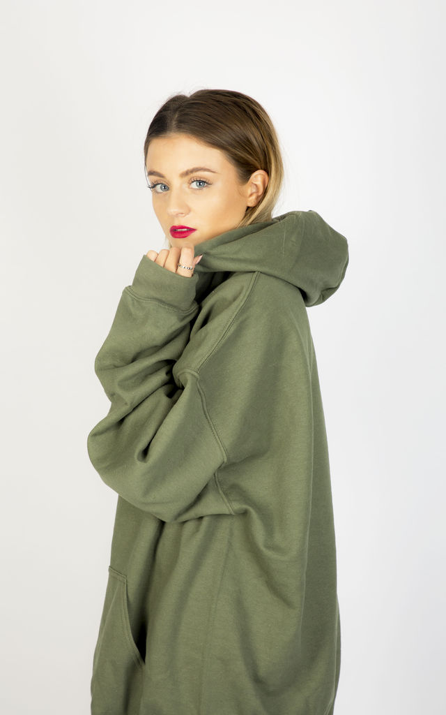 DESERT DREAMS OVERSIZED BOYFRIEND HOODIE- KHAKI by Pharaoh London