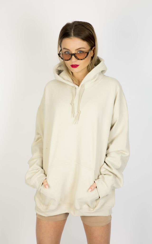 DESERT DREAMS OVERSIZED BOYFRIEND HOODIE- NUDE by Pharaoh London
