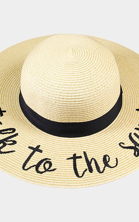 Talk To The Sand Straw Floppy Sun Hat by Arcus Accessories