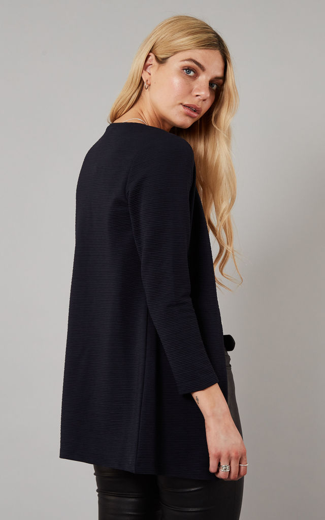 Night Sky Textured Long Line Blazer by ONLY