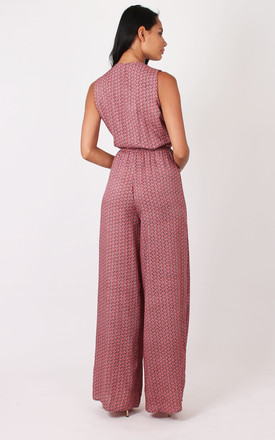 Coral Print Festival Jumpsuit TALL by Silver Birch