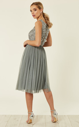 f9c28db00 Val Skirt Tulle Co Ords (Grey) | Lace & Beads | SilkFred