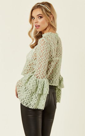 Lunette Top in Lace (Pastel Green) by Lace & Beads