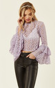 Lunette Top in Lace (Lavender) by Lace & Beads